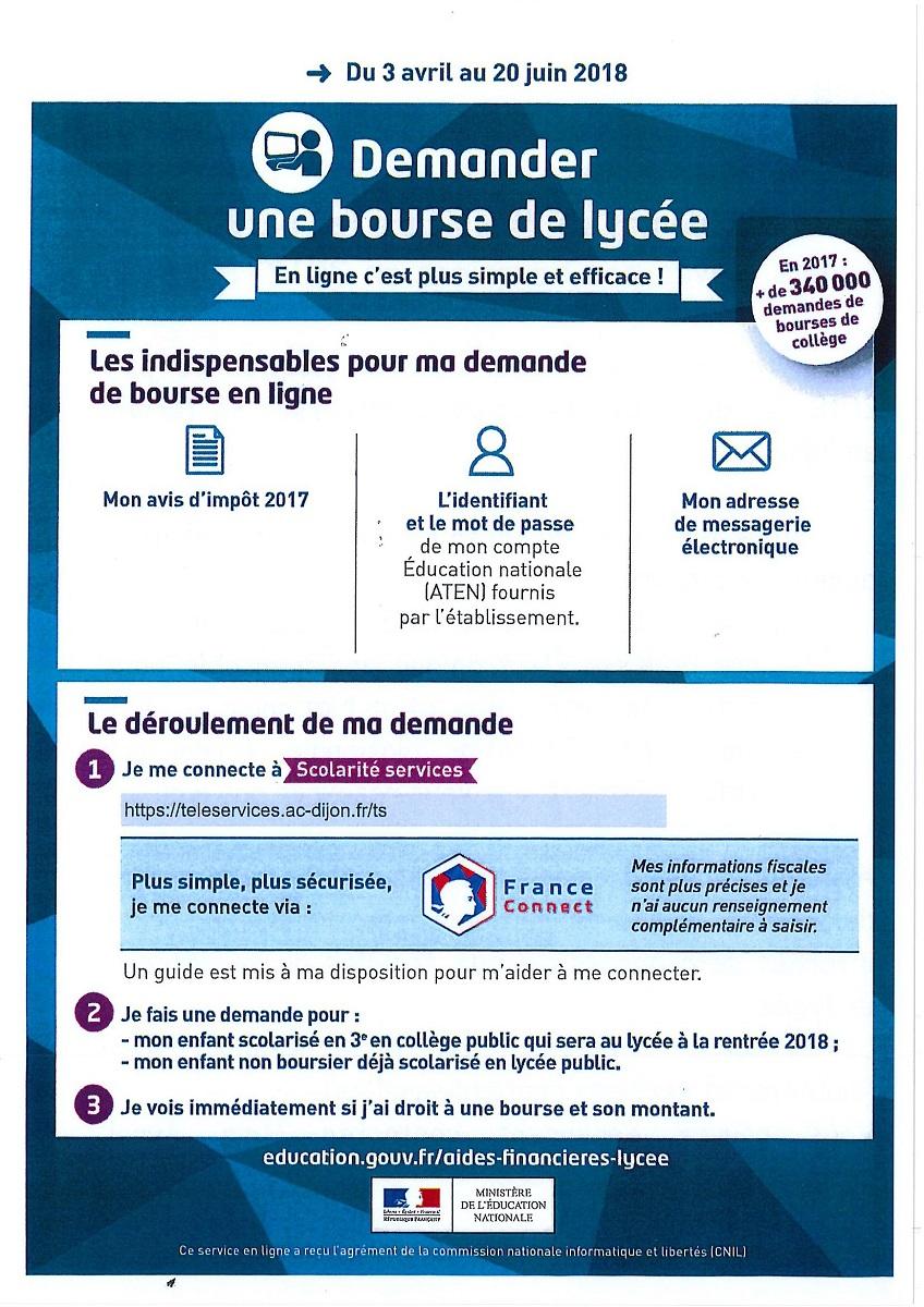 Demande De Bourses Nationales Lycee Rene Cassin De Macon