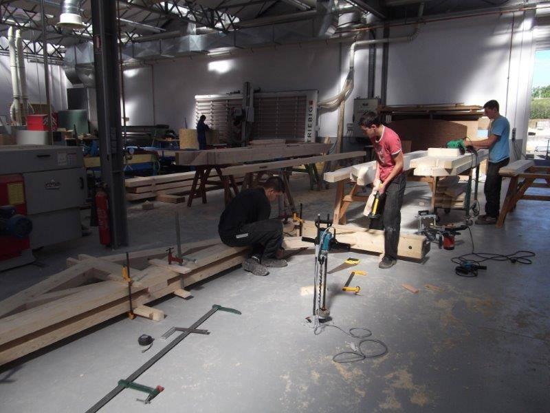 Bac Pro Constructeur Bois - Chantier Ecole pour nos Bac Pro TCB (techniciens constructeurs bois) et CAP Charpentier Lycée